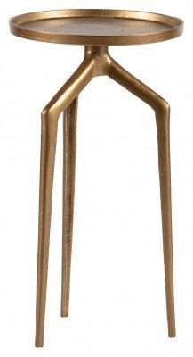 BePureHome BePureHome Bijzettafel 'Mosquito' Set van 2 stuks metaal, Zwart/Antique brass