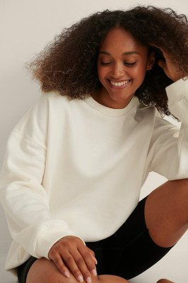 Curated Styles Curated Styles Boxy Oversized Trui - Offwhite