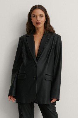 Matiamu By Sofia x NA-KD Matiamu By Sofia x NA-KD Oversized Pu-Blazer - Black