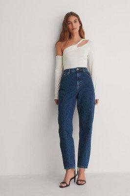 NA-KD Trend NA-KD Trend Mom Jeans - Blue