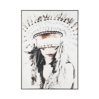 J-Line J-Line Schilderij 'Native Woman' 142 x 102cm