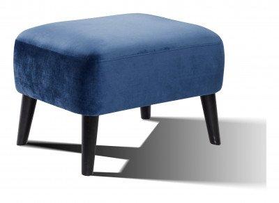Artistiq Living Artistiq Poef 'Katrin' Velvet, kleur blauw