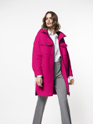 Beaumont Beaumont Boucle hoodie - Fuchsia