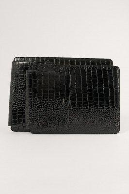 NA-KD Accessories NA-KD Accessories Croc Laptoptas - Black