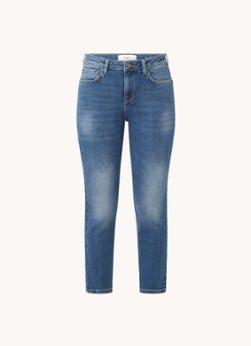 BAenSH ba&sh Craft mid waist slim fit cropped jeans met stretch