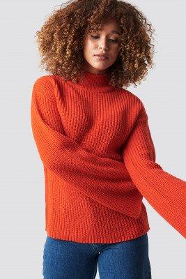 Rut&Circle Rut&Circle Wide Sleeve Pullover - Red