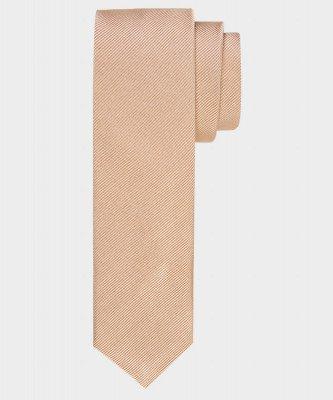 Michaelis Michaelis heren smalle zijden stropdas beige