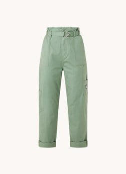 Tommy Hilfiger Tommy Hilfiger High waist straight fit cropped pantalon met ceintuur