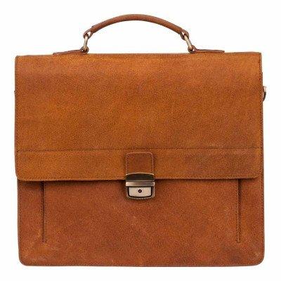 BURKELY BURKELY Vintage Scott Briefcase Cognac