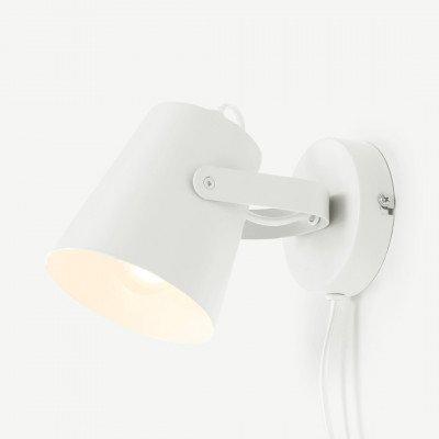 MADE.COM Clyde wandlamp, wit