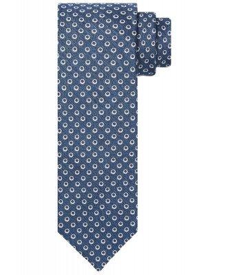 Profuomo Profuomo heren blauwe zijden-blend stropdas