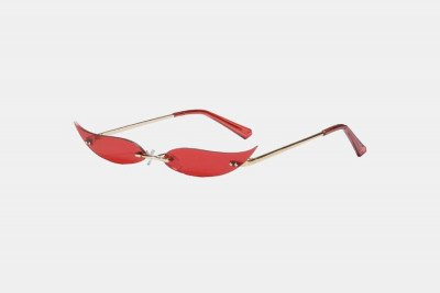 Blank-Sunglasses NL EYES. - Gold with red
