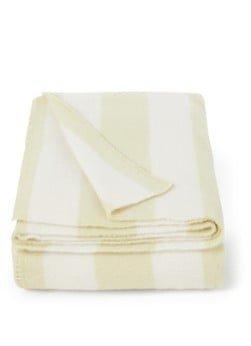 TEKLA TEKLA Striped plaid van wol 130 x 180 cm