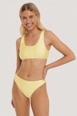 NA-KD Swimwear NA-KD Swimwear Sporty Bikini Briefs - Yellow