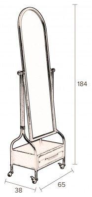 Dutchbone Dutchbone Staande Spiegel 'Gubo' 184 x 65cm