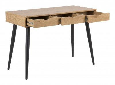 Bendt Bureau / Sidetable 'Märta' 110 x 50cm, kleur zwart / eiken