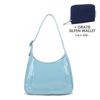 Daniel Silfen Daniel Silfen Shoulder Bag Siri Patent Neptune