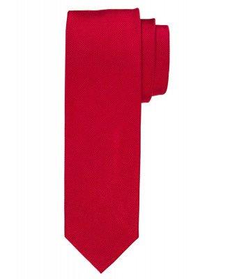 Profuomo Profuomo heren rode uni zijden stropdas