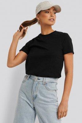 NA-KD Basic Basic T-Shirt - Black
