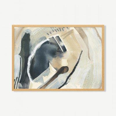 MADE.COM Windy Waters, ingelijste print, door Jetty Home, 70 x 100 cm