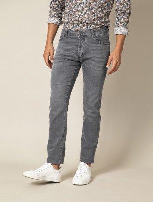 Cavallaro Napoli Cavallaro Napoli Heren Jeans - Fresco Denim Jeans - Grijs Melange