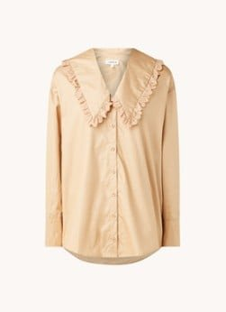 EDITED EDITED Raquel blouse van biologisch katoen met ruches