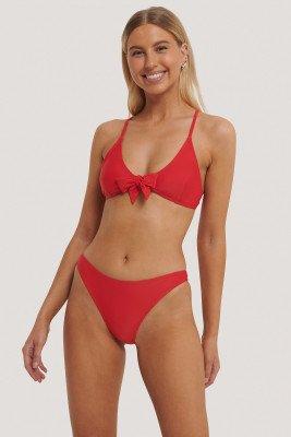 NA-KD Swimwear NA-KD Swimwear Hoog Uitgesneden Bikinibroekje - Red