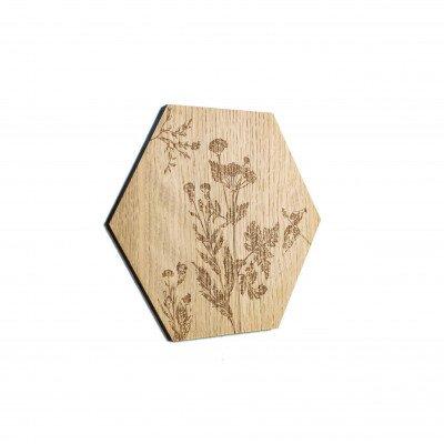 Growing Concepts Huldra - Botanic eiken wandpaneel 22cm / 25cm / Hout