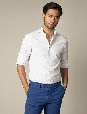 Cavallaro Napoli Cavallaro Napoli Heren Overhemd - Barrio Overhemd - Wit