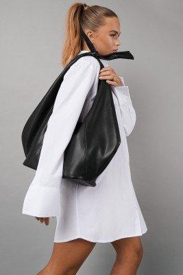 Hanna Schönberg x NA-KD Hanna Schönberg x NA-KD Knot Detail Faux Leather Bag - Black