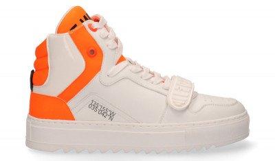F-WD F-WD FWS34042A Wit/Fluor Oranje Damessneakers
