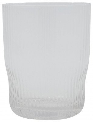 HEMA HEMA Waterglas Bergen Streep Reliëf 360ml