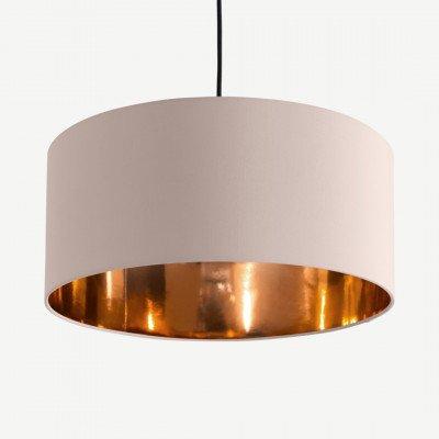 MADE.COM Oro hanglampenkap, lichtroze en koper