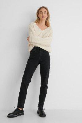 NA-KD Reborn NA-KD Reborn Organisch Mom Jeans - Black