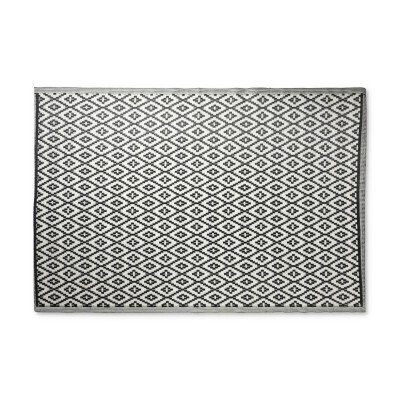 Xenos Buitenkleed azteken - zwart - 160x230 cm