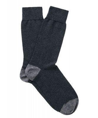 Profuomo Profuomo heren two-pack antraciet katoenen sokken