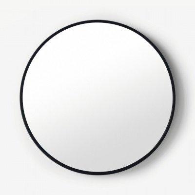 MADE.COM Bex grote ronde spiegel, 76 cm, zwart