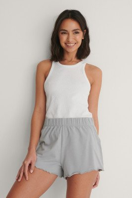 Curated Styles Curated Styles Short Met Ruches - Grey