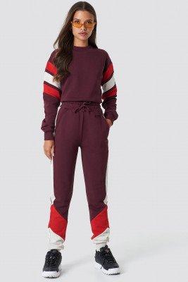 NA-KD NA-KD Blocked Sweatpants - Purple
