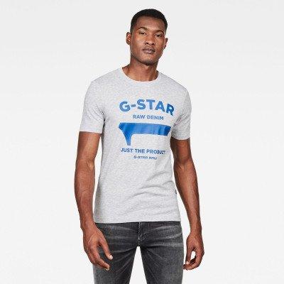 G-Star RAW GS First Slim T-shirt - Grijs - Heren