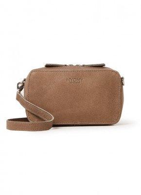 MYOMY MYOMY My Boxy Bag crossbodytas van leer
