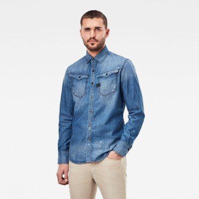 G-Star RAW Arc 3D Slim Shirt - Midden blauw - Heren