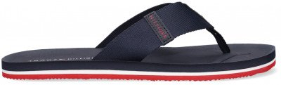 Tommy Hilfiger Blauwe Tommy Hilfiger Teenslippers Classic Molded Flipflop