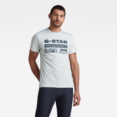 G-Star RAW Originals HD Graphic T-Shirt - Lichtblauw - Heren