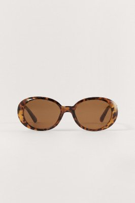 NA-KD Accessories NA-KD Accessories Ronde Zonnebril - Brown