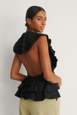 NA-KD Party NA-KD Party Top Met Open Rug - Black
