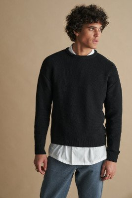 nu-in 100% Recycled Textured Knit Crew Neck Jumper