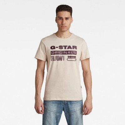 G-Star RAW Originals HD Graphic T-Shirt - Roze - Heren