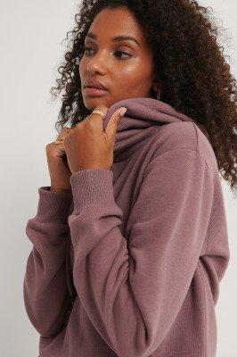 NA-KD Basic NA-KD Basic Organisch Oversized Geborstelde Hoodie - Purple