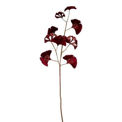 Firawonen.nl PTMD Leaves Plant burgundy gingko leaves spray
